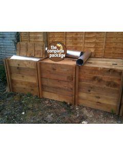 1150 Blackdown Range Triple Deluxe Standard Wooden Composter
