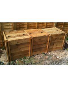 1150 Blackdown Range Triple Standard Wooden Composter with Lids