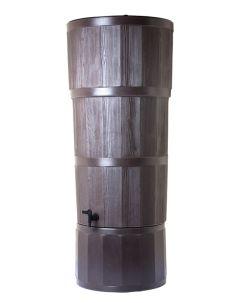 150L Woodgrain Effect Polybutt Water Butt - Oak Brown