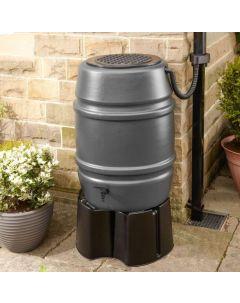 168L Grey Standard Water Butt Barrel ONLY