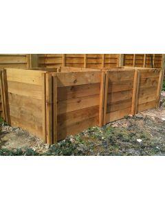 1900 Blackdown Range Triple Standard Wooden Composter
