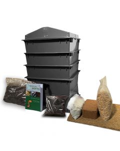 3 Tray Deluxe Tiger Wormery Black