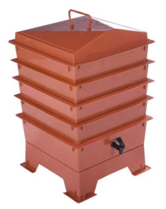 4 Tray Standard Tiger Wormery Terracotta