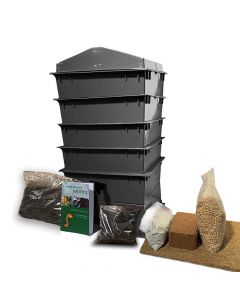 4 Tray Deluxe Tiger Wormery Black