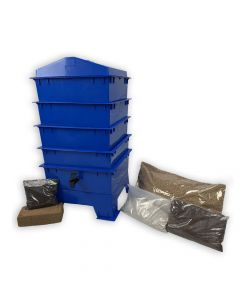 4 Tray Standard Pet & Dog Poo Wormery Dark Cobalt Blue
