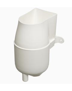 White Gutter Mate Diverter & Filter