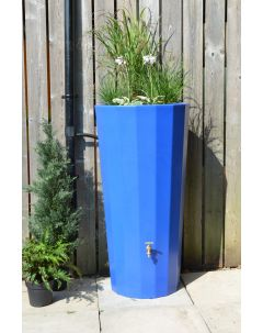 255L Metropolitan Water Butt with Planter in Blue
