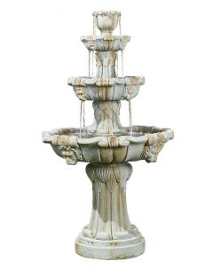 Kelkay Lioness Fountain Water Feature - Natural Stone Effect