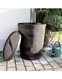 130L Conical Oak Barrel Wood Effect Water Butt