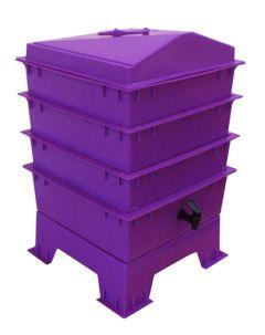 4 Tray Standard Pet & Dog Poo Wormery Dark Orchid Purple
