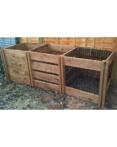 1150 Blackdown Range Triple Mix Wooden Composter