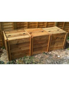 1150 Blackdown Range Triple Standard Wooden Composter with Lids