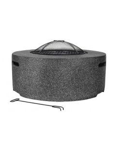 Cylinder Dark Grey Fire Pit