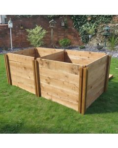 1200 Blackdown Range Double Standard Wooden Composter