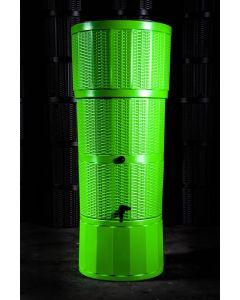 150L Rattan Wicker Effect Polybutt Water Butt - Lime Green