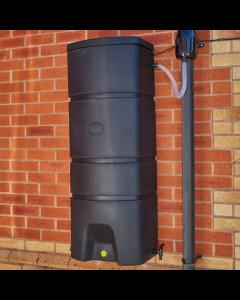 160L Terracottage Wallmounted Water Butt & Gutter Mate Diverter Bundle