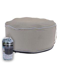Inflatable Pouf 55cmx 25cm Cream