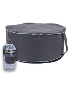 Inflatable Pouf 55cmx 25cm Grey