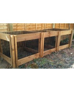 1900 Blackdown Range Triple Leaf Mould Wooden Composter