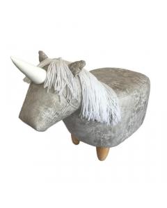 Savern The Unicorn Leatherette Footstool