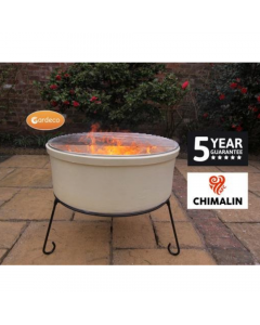 Atlas Jumbo Chimalin AFC Fire Bowl in Natural Clay