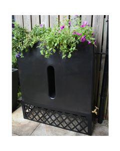 280 Litre Slimline Water Butt Planter - Black
