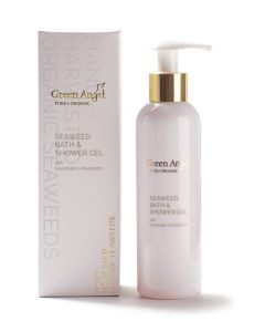 200ml Green Angel Organic Seaweed Bath & Shower Gel with Lavender & Mandarin
