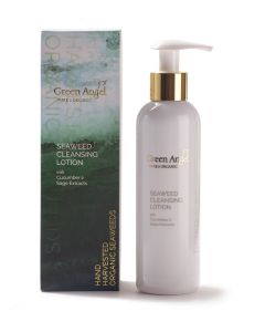200ml Green Angel Organic Seaweed Cleansing Lotion with Cucumber & Sage Extracts