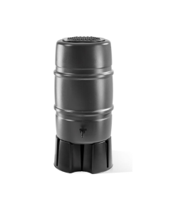 Grey Harcostar 227L Water Butt with Stand and Diverter