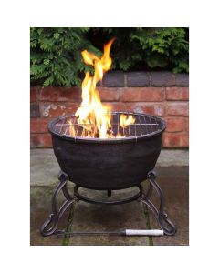 Elidir Cast Iron Fire Bowl + BBQ Grill