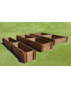 30cm High Double Raised Beds - Blackdown Range - 50cm Wide
