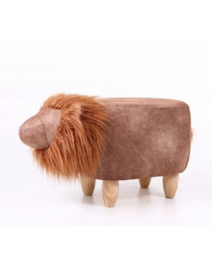 Lionel The Lion Velvet Footstool With Mane