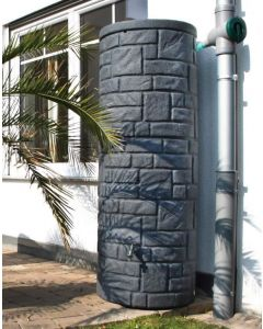 360L Arcado Replica Stone Pillar Column Water Butt - Charcoal