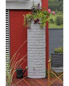 460L Arcado Replica Stone Pillar Column Water Butt - Granite