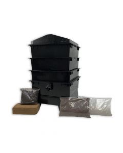 3 Tray Standard Tiger Wormery Black