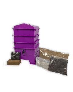 3 Tray Standard Pet & Dog Poo Wormery Dark Orchid Purple
