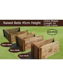 45cm High Extra Module for Raised Beds - Blackdown Range - 50cm Wide