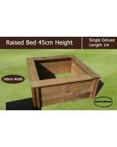 45cm High Single Deluxe Raised Bed - Blackdown Range