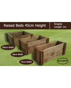 45cm High Single Raised Beds - Blackdown Range - 100cm Wide