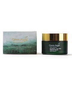 50ml Green Angel Organic Seaweed & Tea Tree Rescue Cream with Vitamin E