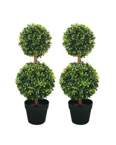 Artificial Double Ball Tree 60cm - set of 2