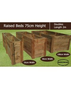 75cm High Double Raised Beds - Blackdown Range - 25cm Wide