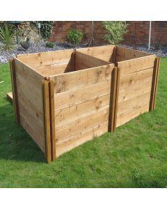 800 Blackdown Range Double Standard Wooden Composter