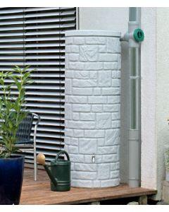 360L Arcado Replica Stone Pillar Column Water Butt - Granite