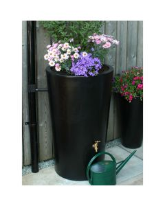 180 Litre Garden Planter Water Butt Black