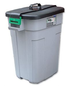90L Rectangular Bin with Lid and Handle