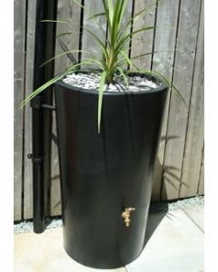 180 Litre Garden Planter Water Butt Black