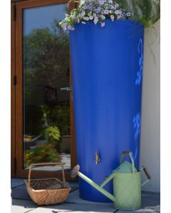 380 Litre Garden Planter Water Butt Blue with Tap Kit & Diverter