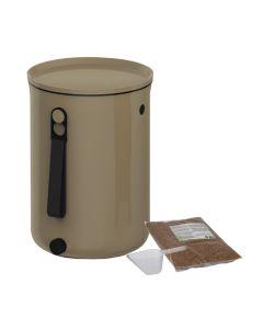 Bokashi Organko 2 Compost Bin (9.6L) Cappuccino with 2kg Bokashi Bran