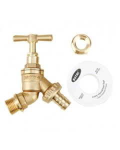 "1/2"" Brass Tap Kit with 3/4"" BSP Adapter"